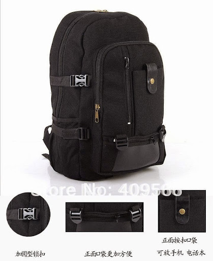 quality guarantee thicken canvas backpack laptop bag ma