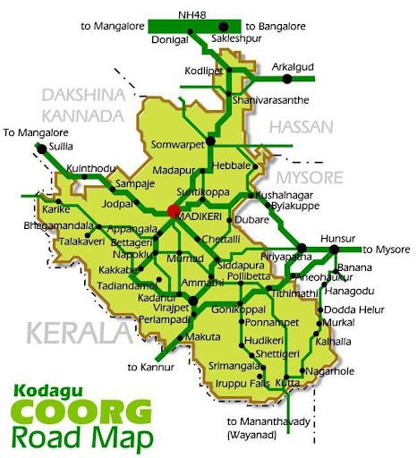 Kodagu distric map
