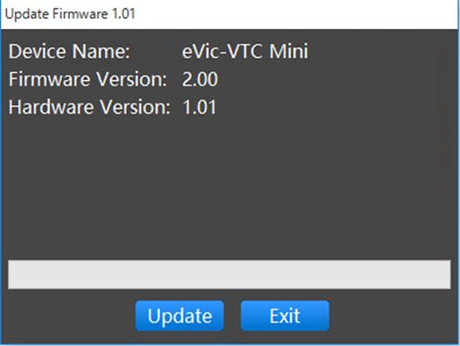 VTC Mini Firmware thumb2.png - Joyetech eVIC-VTC MINI 75W(eVic VTC Mini with TRON)版のレビュー「小さくてもできる子」