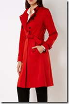 Karen Millen red trench coat