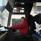 Ik achter het stuur van de Setra van Ava Coach (GB)