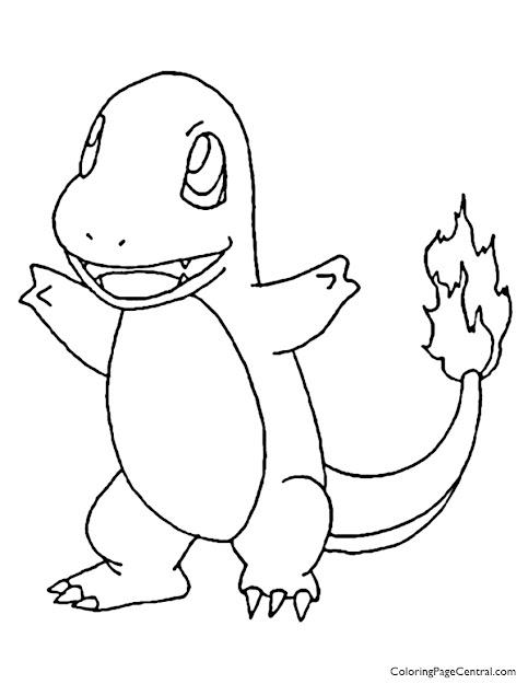 Pokemon  Charmander Coloring Page