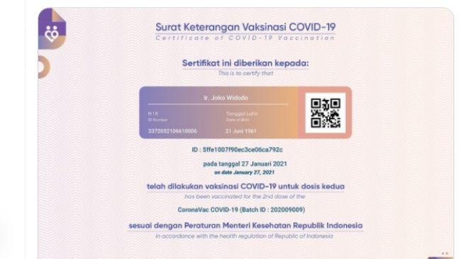 Soal Data Vaksinasi COVID-19 Jokowi, Kemenkes Klaim Aplikasi PeduliLindungi Tak Bocor