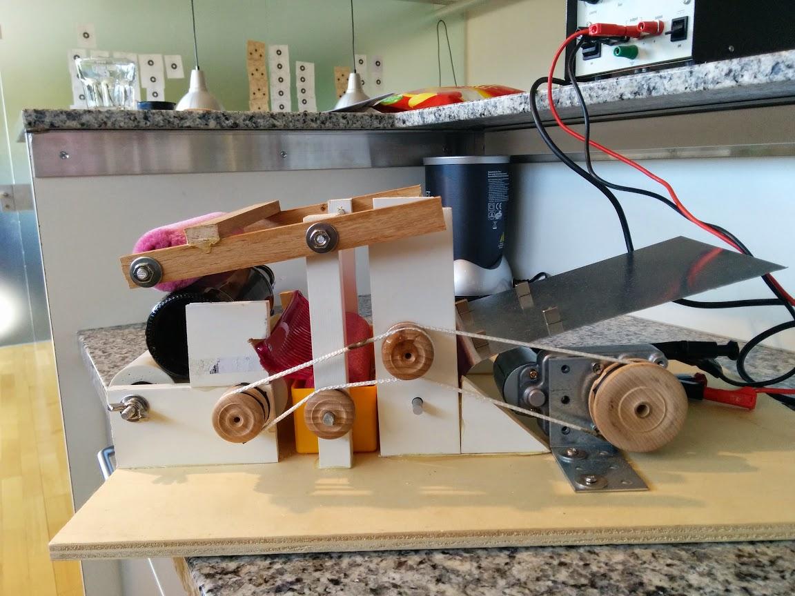 Etikettier Maschinen Prototyp hobbybrauer