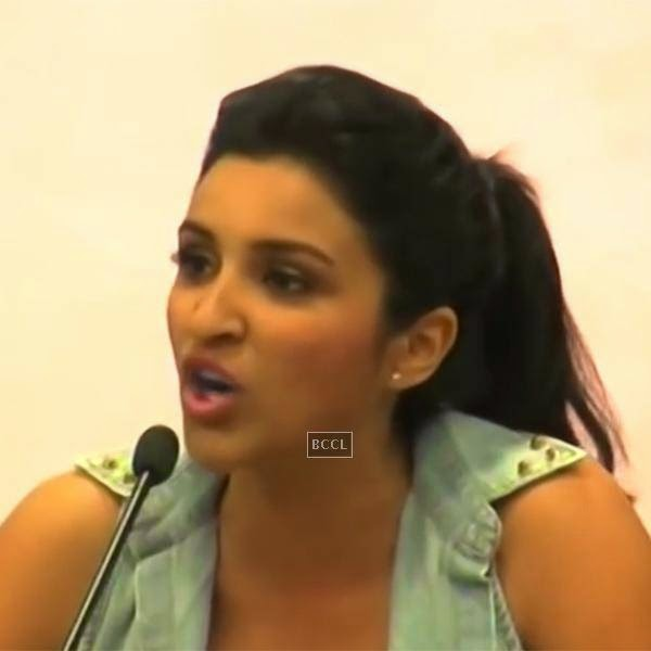"Parineeti Chopra, at a press conference was agitated when a journalist made an inconsonant statement that, "" When girls are young, they enjoy it and when they get old, they start screaming and shouting and say men exploit them"". Parineeti was furious by the statement and immediately questioned, what he meant when he said 'enjoy's it'."