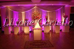 Fotos de decoração de casamento de Casamento Monalisa e Newton no Clube dos Advogados da decoradora e cerimonialista de casamento Liliane Cariello que atua no Rio de Janeiro e Niterói, RJ.