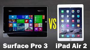 Surface Pro 3 vượt mặt iPad Air 2 trở thành tablet mạnh mẽ nhất
