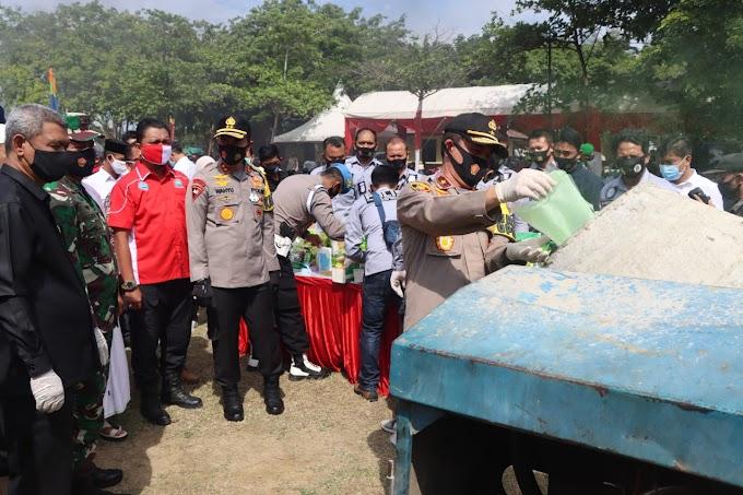 Polda Aceh Musnahkan Barang Bukti Narkotika  Hasil Ungkap Tahun 2020