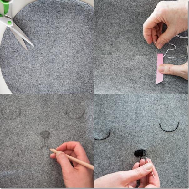 DIY Cesto portagiochi fai da te a forma di orsetto
