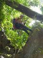 Matt Kirby descending the entrance shaft | photo © HughStLawrence