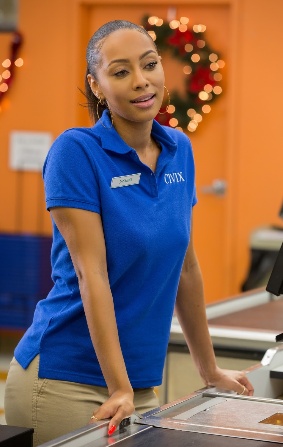 Keri Hilson stars as Jasmine in ALMOST CHRISTMAS. (Photo by Quantrell D. Colbert / courtesy of Universal Pictures).