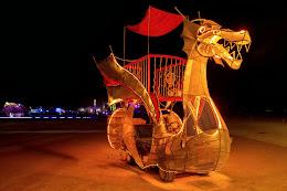 dragon art car