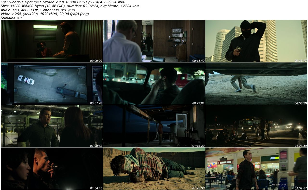 Soldado 2018 - 1080p 720p 480p - Türkçe Dublaj Tek Link indir
