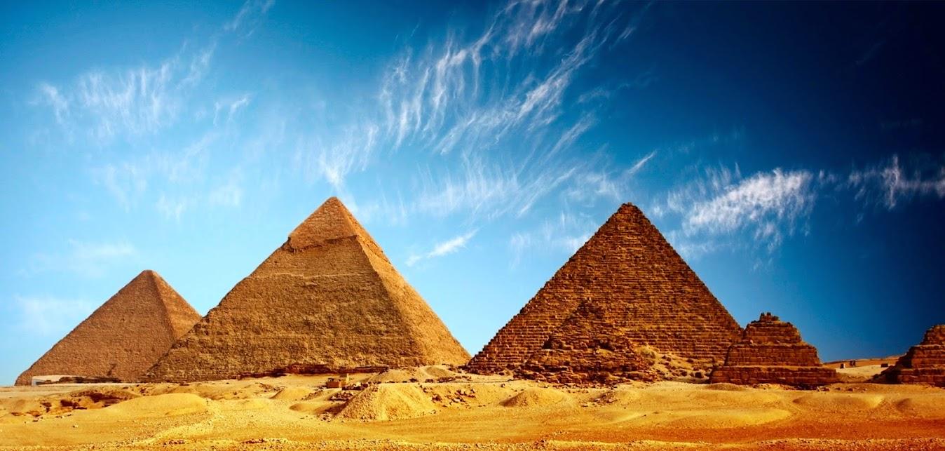 Великие Египетские пирамиды в Гизе • 360° Аэрофотопанорама