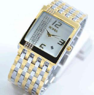 jam tangan Bonia tikar date silver kombinasi gold