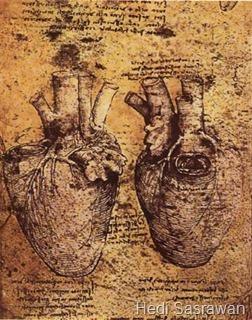 Ilustrasi jantung dan pembuluh darah oleh Leonardo da Vinci