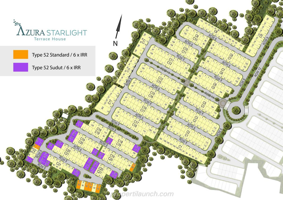 Siteplan Rumah Azura Starlight BSD