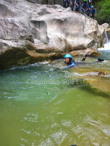 Floating dans le canyon du loup
