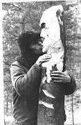1969г.Фигуровка. Новый год. Юра Гусев и его идол.