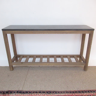 Stone-Top Console Table