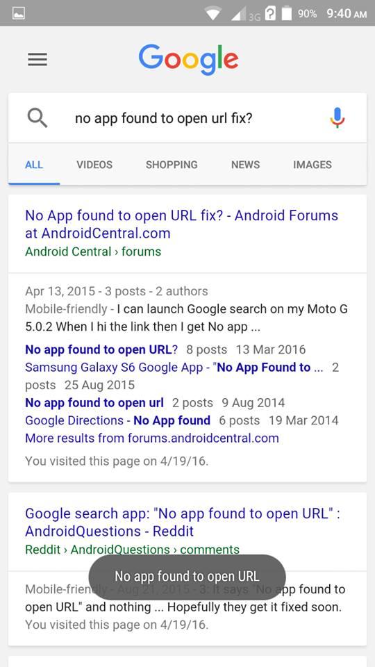 No App Found To Open Url Downloadmeta