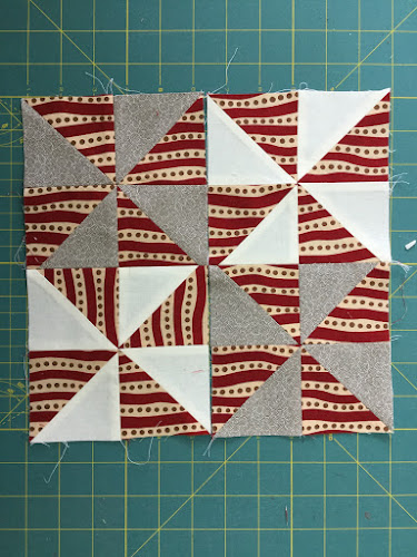 Block 11: 16 HST quilt sampler tutorial