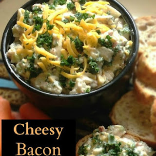 Cheesy Kale and Bacon Dip.