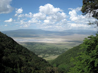 Views leaving Ngorongoro Crater