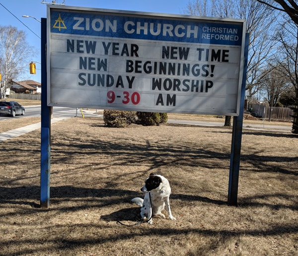Zion Christian Reformed Church sign