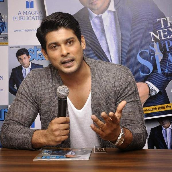 Siddharth Shukla speaks during the launch of Star Week magazine's latest issue in Mumbai, on July 31, 2014.(Pic: Viral Bhayani)