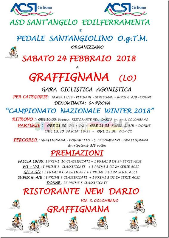 2018-02-24 ACSI - Strada 6ª prova Campionato Nazionale Winter 2018 a Graffignana(LO) - Lombardia