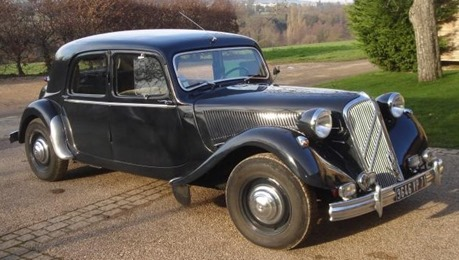 Citroën Traction 15-Six 1953 gris fumé