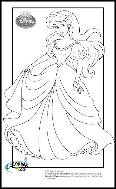 Disney Princess Ariel Coloring Pages