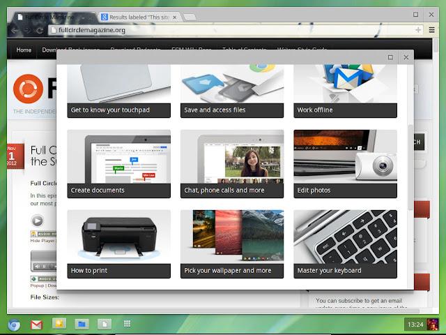 Chromium OS main screen