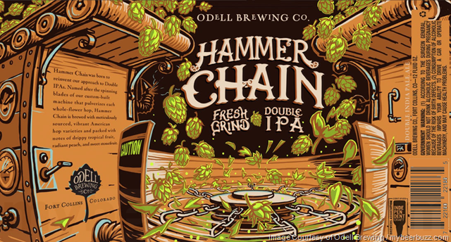 Odell Brewing Hammer Chain Fresh Grind DIPA Cans Coming In May 2019