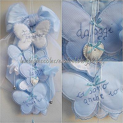 fiocco nascita farfalle azzurro