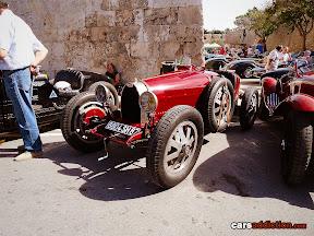 Old red Bugatti