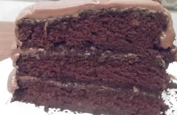 Moist Chocolate Cake W/ Chocolate Frosting