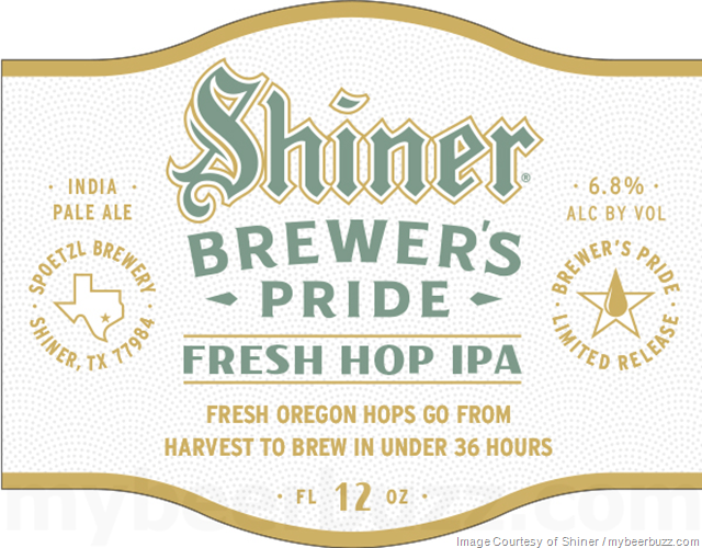 Shiner Fresh Hop IPA Coming To Brewer's Pride Series