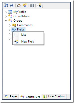 Adding a new field to Orders controller.