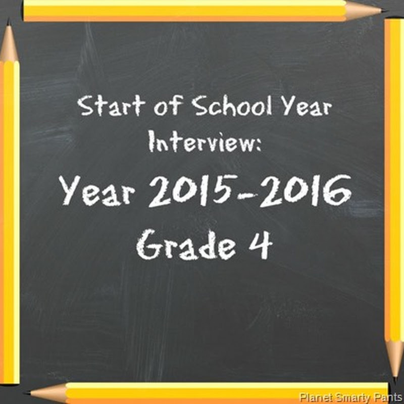Start of School Year Interview: 2015