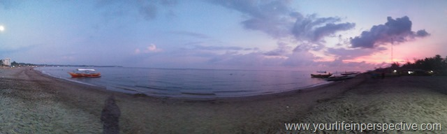 Panoramic View of the beach during Sunset