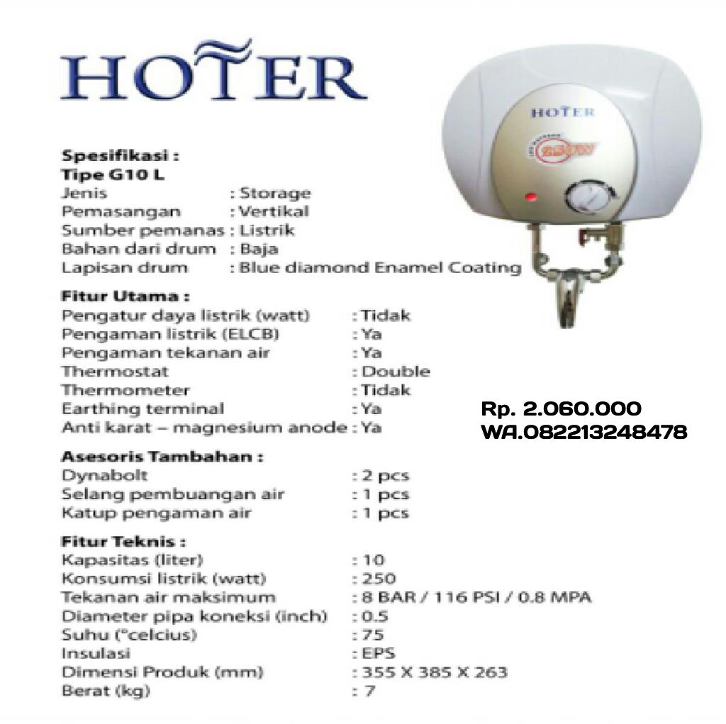cv petronarwastu banyumas: Water heater elektrik Hoter