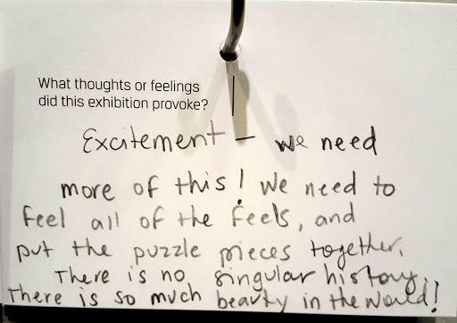 Excitement - we need more of this! We need to feel all fo the feels, and put the puzzle pieces together. There is no singular history. There is so much beauty in the world!  From Love, Change, and the Expression of Thought: 30 Americans at the Detroit Institute of Arts
