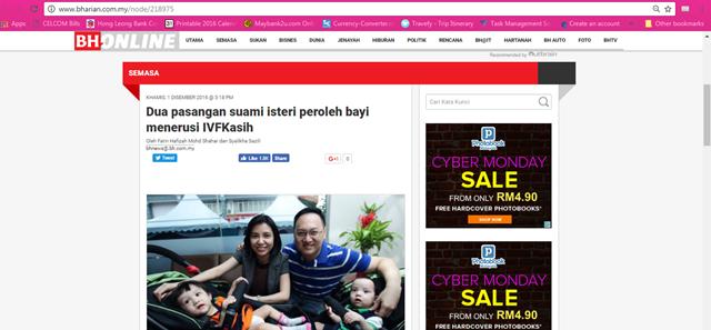 BERITA BAIK! IVFKASIH RAWATAN KESUBURAN KOS RENDAH MALAYSIA 5