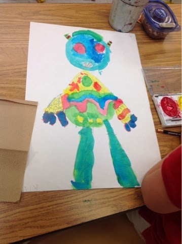 Art With Mr E Painted Monsters Kindergarten