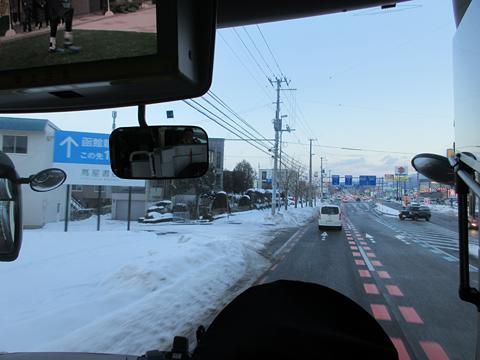 北都交通「高速はこだて号」 函館・609 函館市内走行中