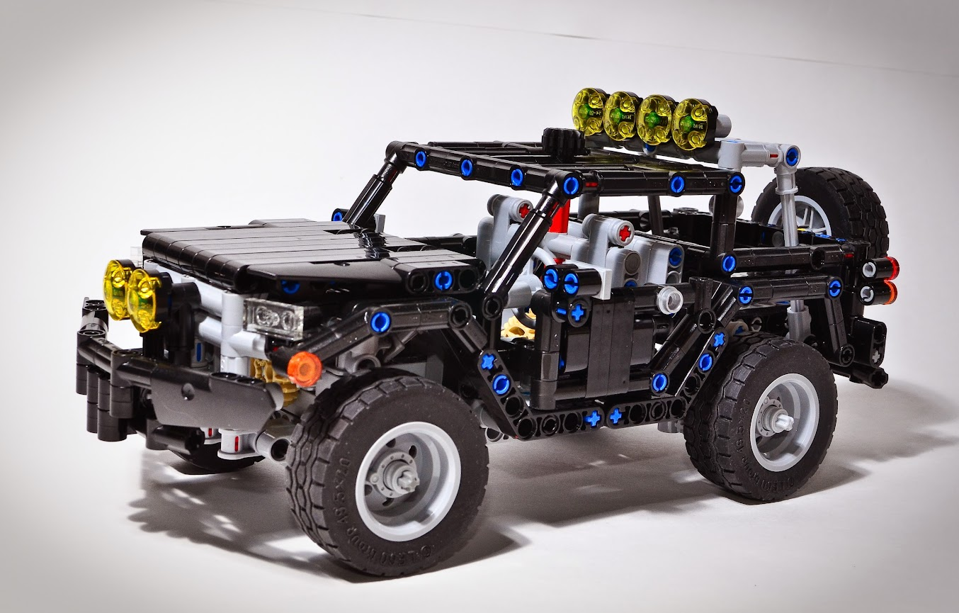 offroad pickup mini scale lego technic and model team. Black Bedroom Furniture Sets. Home Design Ideas