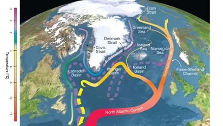 Κοντά στα όρια της κατάρρευσης τα ρεύματα του Ατλαντικού Ωκεανού δείχνει μια νέα μελέτη