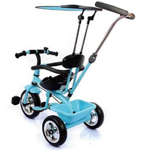 Xe đẩy trẻ em bánh T301 màu xanh.
